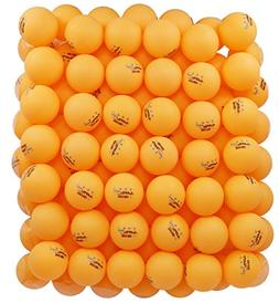 MAPOL 100 Counts 3-Star Orange Practice Ping Pong Balls Adva
