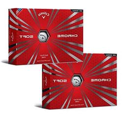 2 Boxes Callaway Chrome Soft Golf Balls, White