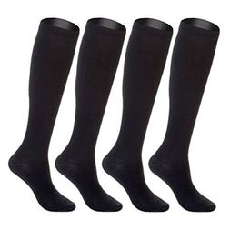 4 pairs knee high graduated compression socks