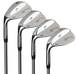 Pinemeadow Golf Men's Pre 4 Wedge Set, Right Hand, Steel, Re