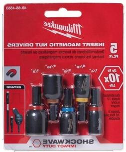 MILWAUKEE 49664563 Nut Drivers,1 In,5Pc,1/4In Hex, PK5 G7629