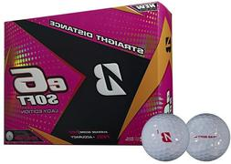 6 Dozen New Bridgestone E6 Soft Lady Edition Golf Balls Pear