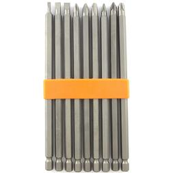 """9 PIECE EXTRA LONG MAGNETIC 6"""" INCH POWER DRILL CHROME DRIVE"""