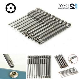 Proof Star 11 Pcs Magnetic Head Torx Screwdriver Bit Set T6-