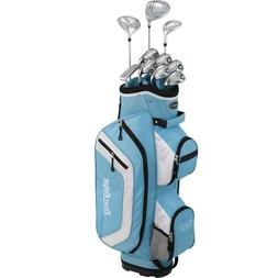 Tour Edge Bazooka 260 Women's Box Set, Right Hand, Blue/Whit