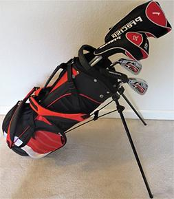 Junior Golf Clubs Set with Stand Bag for Kids Ages 5-8 Red C
