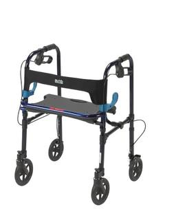 """Deluxe Clever Lite Rollator Walker With 8"""" Casters Blue/8"""" W"""