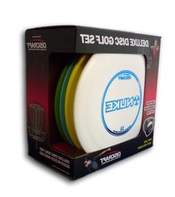Discraft Deluxe Disc Golf Set Models and plastic blends may