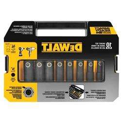DEWALT DW22838 3/8-Inch 10-Piece IMPACT READY Socket Set