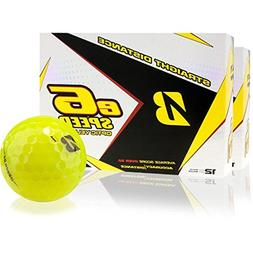 Bridgestone e6 Speed Yellow Golf Balls, 2 Dozen