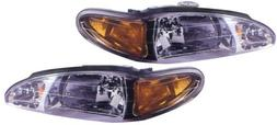 1997-2002  Ford Escort Headlight Assembly -  - One Pair  - D