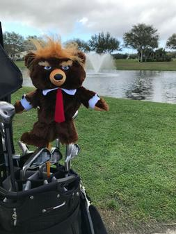 Trumpy Bear Golf Driver Head Cover