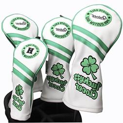 Guiote #1#3#5 H Golf Wood Headcovers 4PC/Set 460CC Driver/Fa