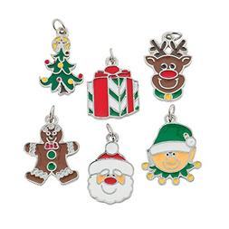 happy holidays enamel charms  - christmas decorations by