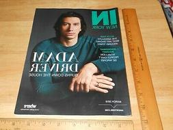 IN NEW YORK Magazine cover ADAM DRIVER Actor PALE Burn This,