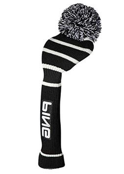 PING KNIT DRIVER HEADCOVER BLACK/WHITE - NEW 2017