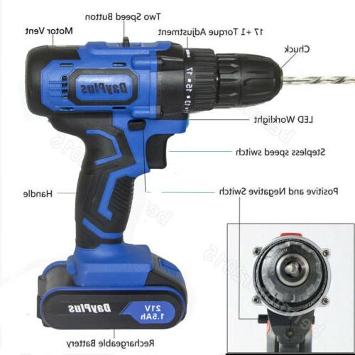 21-Volt drill Speed Electric & Battery