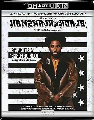 BlackkKlansman UHD Adam Driver NEW