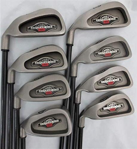 Callaway Mens Complete Golf Set Clubs Driver, Fairway Wood, Irons, Putter Stand Graphite Regular