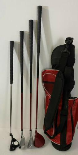 TiTech Future Pro Junior Golf Set Driver 5, 9 Iron Putter W/