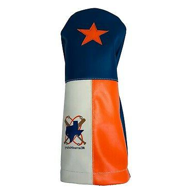 leather driver golf headcover houston astros world