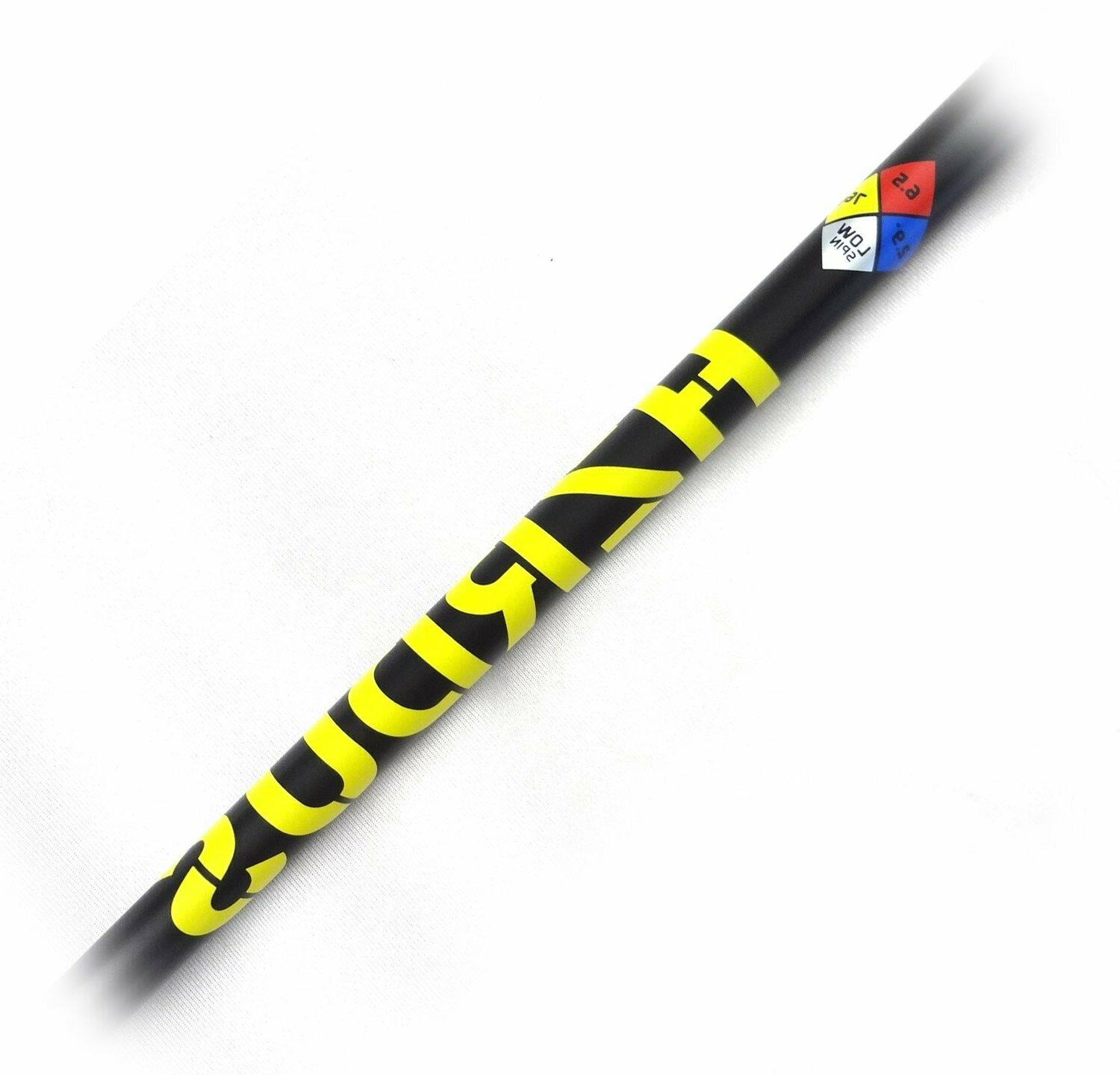 new hzrdus yellow graphite driver wood shaft