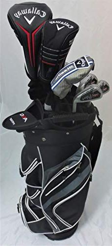 Callaway Golf Mens Set Driver, Wood, Hybrid, Irons, Putter,