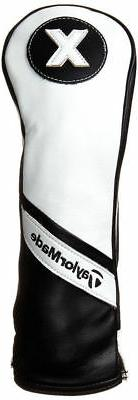 TaylorMade TM15 Leather Rescue Headcovers, White