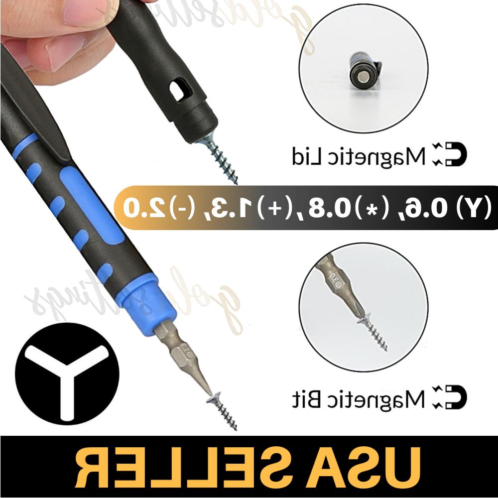 tri point screwdriver 4 bits magnetic y000