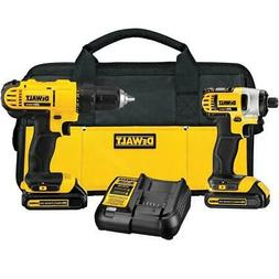 New DEWALT 20-Volt Lithium-Ion Cordless Drill Kit with Impac