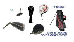 MEN'S AGXGOLF COMPLETE GOLF CLUB SET GRAPHITE WOODS+DRIVER+B