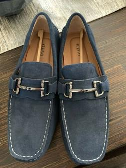Alfani Mens James Suede Drivers Loafers Blue 12M MSRP 79.99