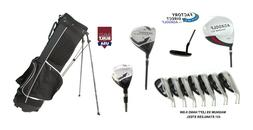 AGXGOLF MENS LEFT HAND COMPLETE GOLF CLUB SET wBAG+DRIVER+3-