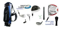 AGXGOLF Mens Left Hand Tec Exec Golf Club Set w/Driver, Hybr