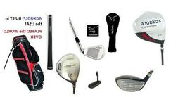 MENS LEFT HAND TECH EXECUTIVE GOLF CLUB SET DRIVER+RESCUE WO
