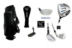MENS SENIOR LEFT HAND EXECUTIVE GOLF CLUB SET 460cc DRIVER,