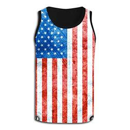 Metal Flags of The United States Causal Outdoor Vests Tank T