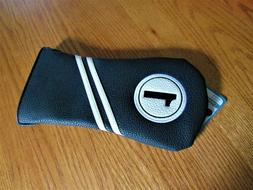 NEW ZTECH VINTAGE BLACK WHITE DRIVER HEADCOVER / FITS 460cc