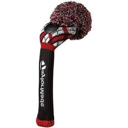 TaylorMade Pom Driver Headcover, Argyle/Blue/Red