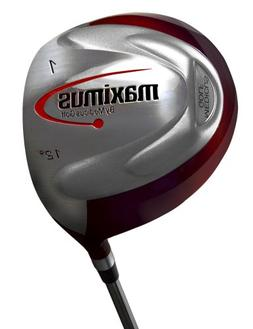 PowerMax Weighted Golf Swing Training Driver in Red
