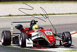 RACING DRIVER Mick Schumacher FORMULA 3 autograph, In-Person