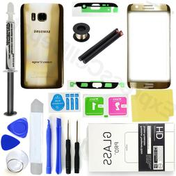 Gold Samsung Galaxy S7 Edge G935 Front Screen Lens Back Glas