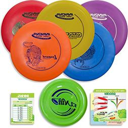 Innova Disc Golf Starter Set | 5 Beginner Discs - DX Putter,