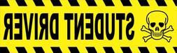 Student Driver Bumper Sticker Decal Funny Caution Beginner N