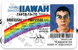 Superbad Sticker McLovin ID Sticker Hawaii Drivers License 3