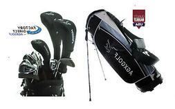 TALL MENS LEFT HAND MAGNUM GOLF CLUB SET wSTAND BAG+DRIVER+H