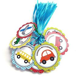 Transportation Thank You Favor Tags - Kid Boy Girl Birthday