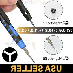 Tri Point Screwdriver 4 Bits Magnetic Y000 Triwing 0.6 0.8 F